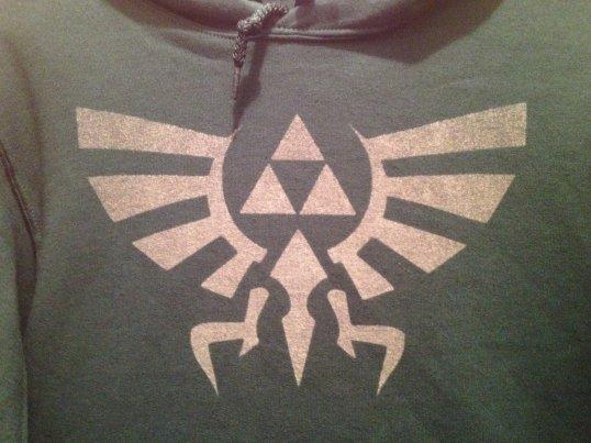 Legend of Zelda Hylian Crest bleach hoodie